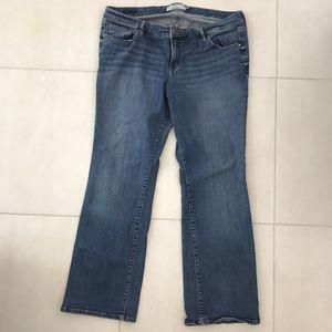 Torrid Straight Distressed Denim Stretch Jeans
